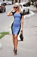 Платье женское короткое из джинса комбинированое стрейчевое P10448, фото 1