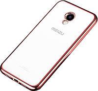 Чехол-накладка TOTO TPU case Electroplated Meizu M5 Rose Gold