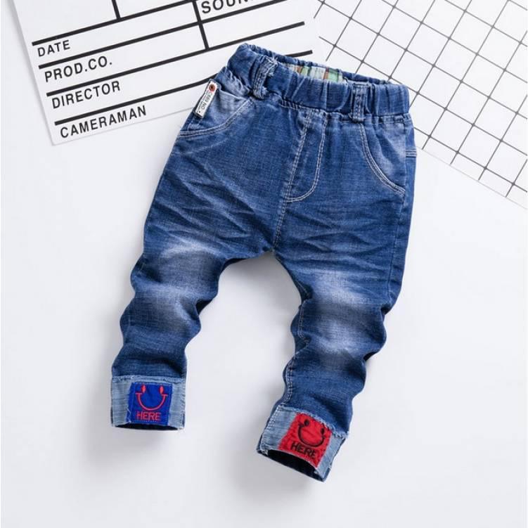 Джинсы детский для мальчика весна-осень 2-5 лет