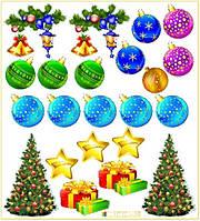 """Комплект декоративных наклеек """"Новый год"""""""