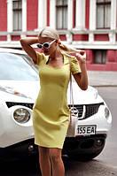 Платье женское короткое из джинса с коротким рукавом на спине молния P10449, фото 1