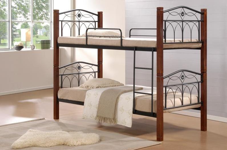 Кровать «Миранда» 2-х ярусная 900*2000 Каштан  (Domini TM)