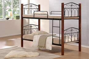 Кровать «Миранда» 2-х ярусная 900*2000 Каштан  (Domini TM), фото 2