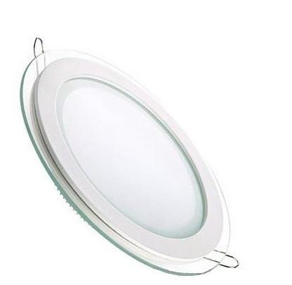 Врезной круглый светильник DownLight 6 Вт холодный белый круг (6500К) Glass Rim