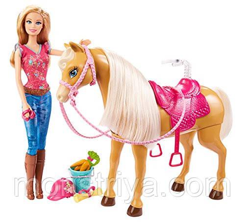 Барби+Интерактивная Лошадь Barbie от Mattel. Киев.