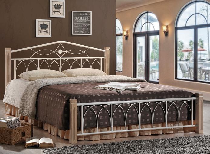 Кровать Миранда двуспальная крем (160х200)  (Domini TM)