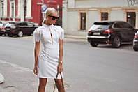 Платье женское короткое декорировано бахромой P10450, фото 1