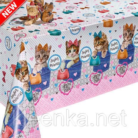Турецкая клеенка на стол  DEKORAMA Котята, фото 2