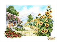 Схема для вышивки бисером Сельский пейзаж ТА-052