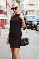 Платье женское короткое облегающее с пайетками на плечах P10451, фото 1