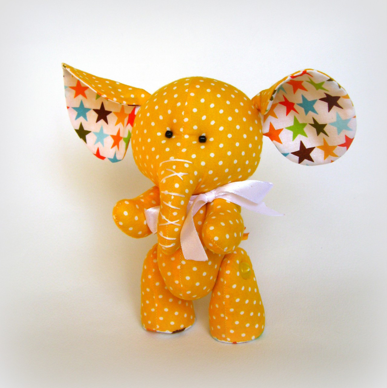 Авторская игрушка Слонёнок желтый