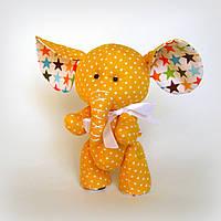 Авторская игрушка Слонёнок желтый, фото 1