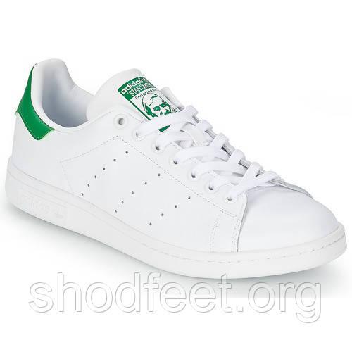 Женские кроссовки Adidas Original Stan Smith White Green