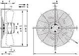 Вентилятор осьовий Weiguang YWF 4E-315-S 102/35-G (вентилятор), фото 3