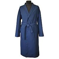 Халат вафельный мужской синий, фото 1