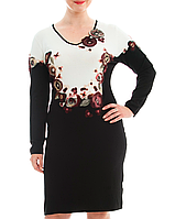 Роскошное платье с цветами из фетра, фото 1