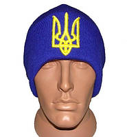 Синяя шапка с украинской символикой Герб