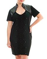Платье с кожей и гипюром, фото 1