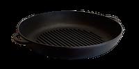 Сковорода-гриль 26х4см с литыми ручками чугунная Ситон