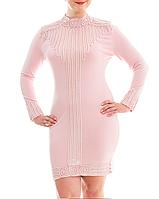 Жемчужно-розовое платье