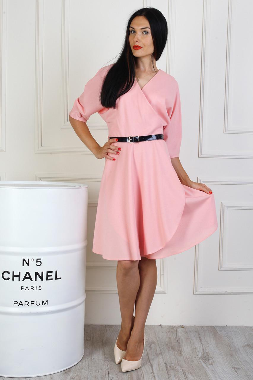 be936ed08de Стильное женское платье с юбкой солнце клешь розовое  продажа