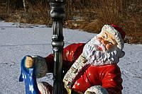 Дед Мороз с шарфом и фонарем, фото 1