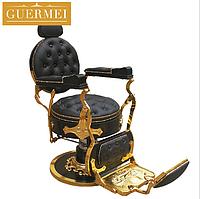 """Мужское парикмахерское кресло """"Guermei Black Lux"""", фото 1"""
