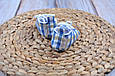 Пинетки хлопковые, сине-песочная клетка, фото 2