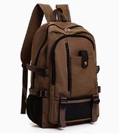 Рюкзак мешковина коричневый, фото 1