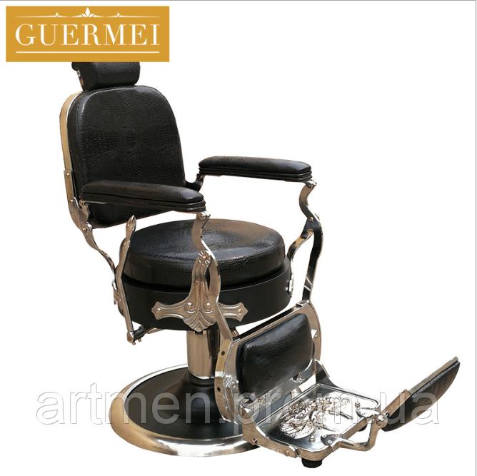 """Мужское парикмахерское кресло """"Guermei Black"""""""