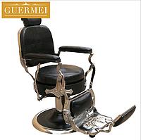 """Мужское парикмахерское кресло """"Guermei Black"""", фото 1"""