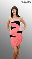 Модное женское мини платье с оголенными плечами