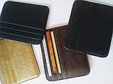 Кожаный картхолдер на 6 отделений коричневый, фото 7