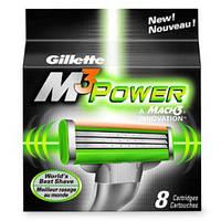 Gillette Mach3 Power 8шт в упаковке сменные кассеты для бритья (лезвия джилет)