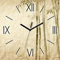 Часы настенные Бамбук Беж квадратные