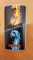 Чехол для HTC Desire 500 (огонь и лед)