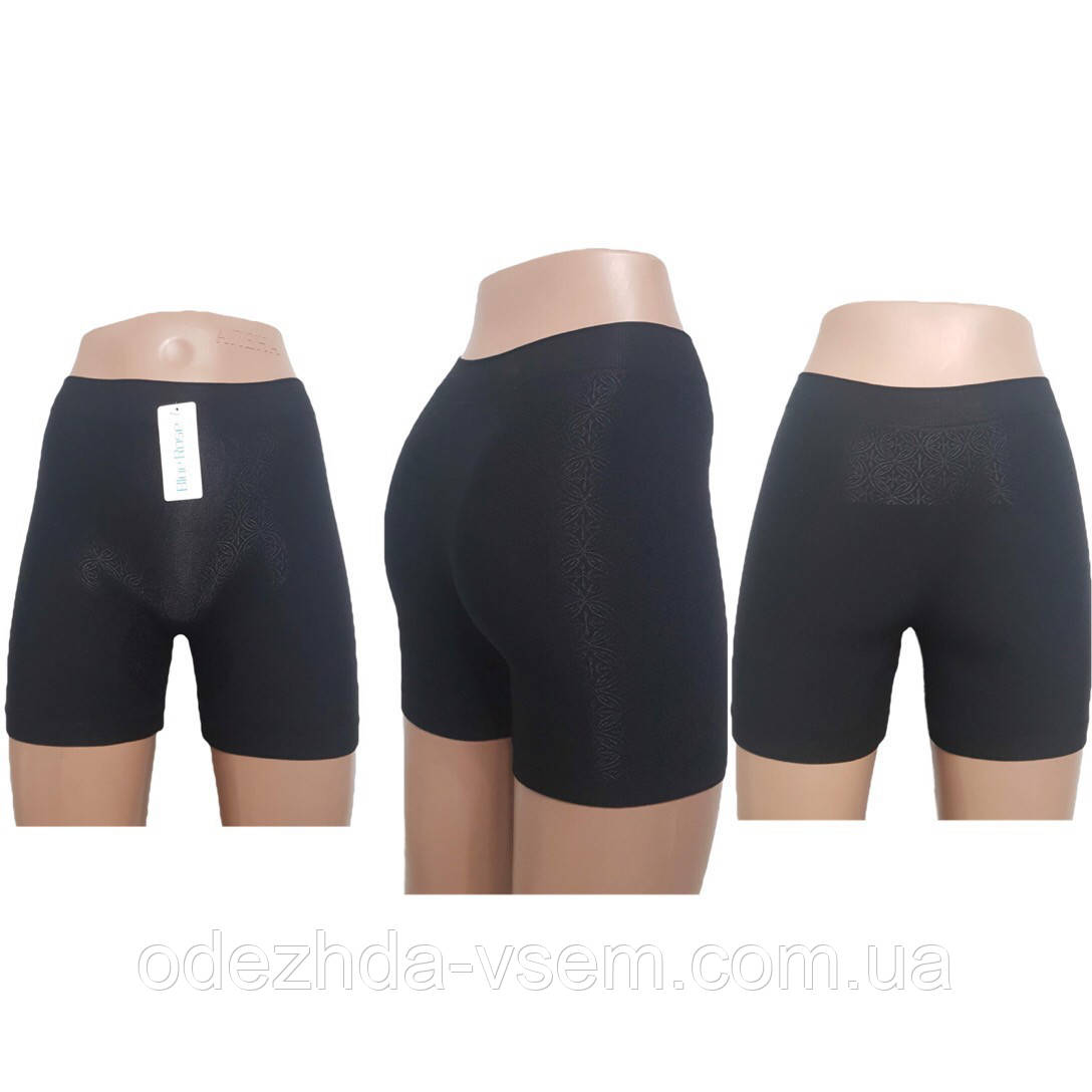 Утягивающие женские шорты черные