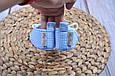 Пинетки хлопковые, голубая клетка, фото 4