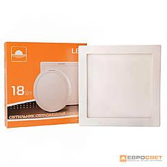 Светильник точечный врезной ЕВРОСВЕТ 18Вт квадрат LED-S-225-18 4200К- 6400К