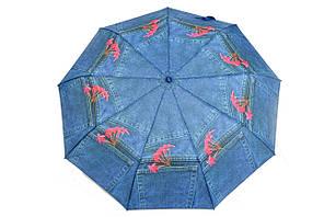 Зонт джинсовый цветок