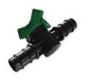 Кран ершовый (проходной) для трубки 25 мм