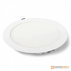 Светильник точечный врезной ЕВРОСВЕТ 18Вт круг LED-R-225-18 4200К-  6400К