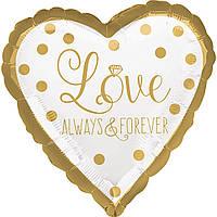 """Фольгированные шары с рисунком """"Вечная любовь"""""""