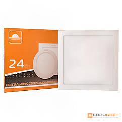 Светильник точечный врезной ЕВРОСВЕТ 24Вт квадрат LED-S-300-24 4200К- 6400К