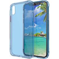 Чехол-накладка TOTO TPU+PC colorful case iPhone X Blue