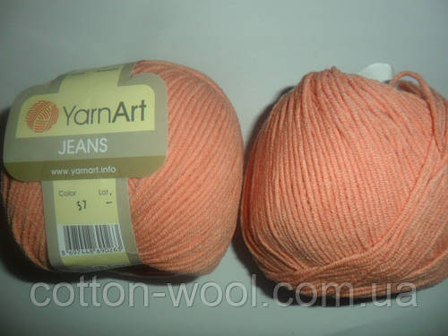 YarnArt Jeans (Ярнарт Джинс) 57 светлый персик
