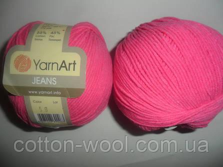 YarnArt Jeans (Ярнарт Джинс)  59 яркий розовый