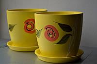 Горшок керамический с принтом, фото 1
