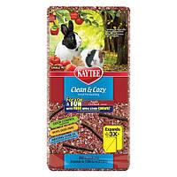 Kaytee Clean&Cozy Apple подстилка для грызунов, целлюлоза, с палочками для грызения в подарок, красная 8,2 л