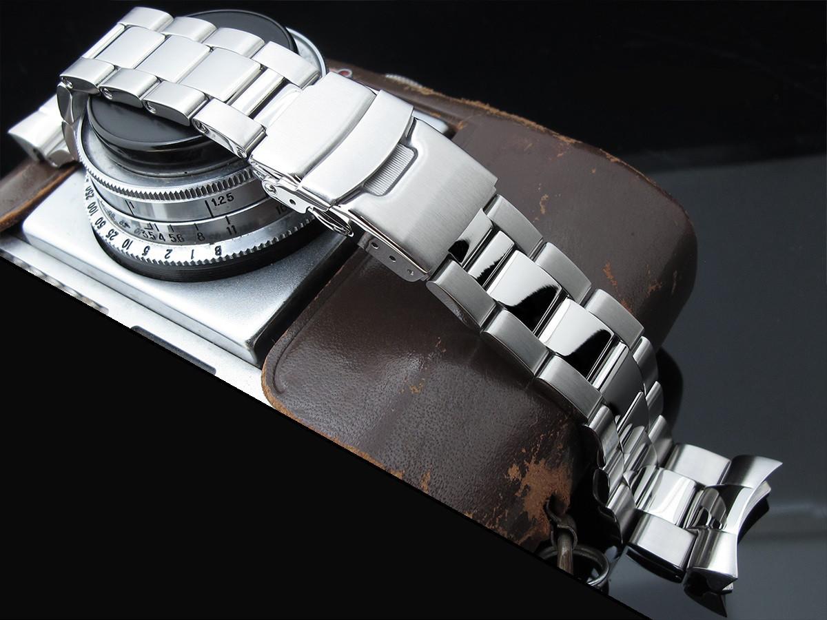 22мм Super Oyster 316L стальной браслет для Seiko SKX007, SKX009, SKX011. Глянец/мат.
